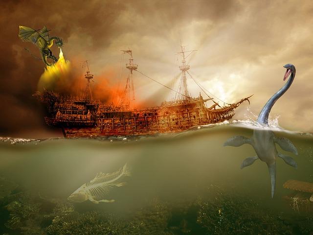 loď a nestvůry