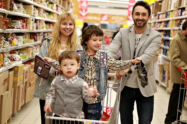 nákup rodiny